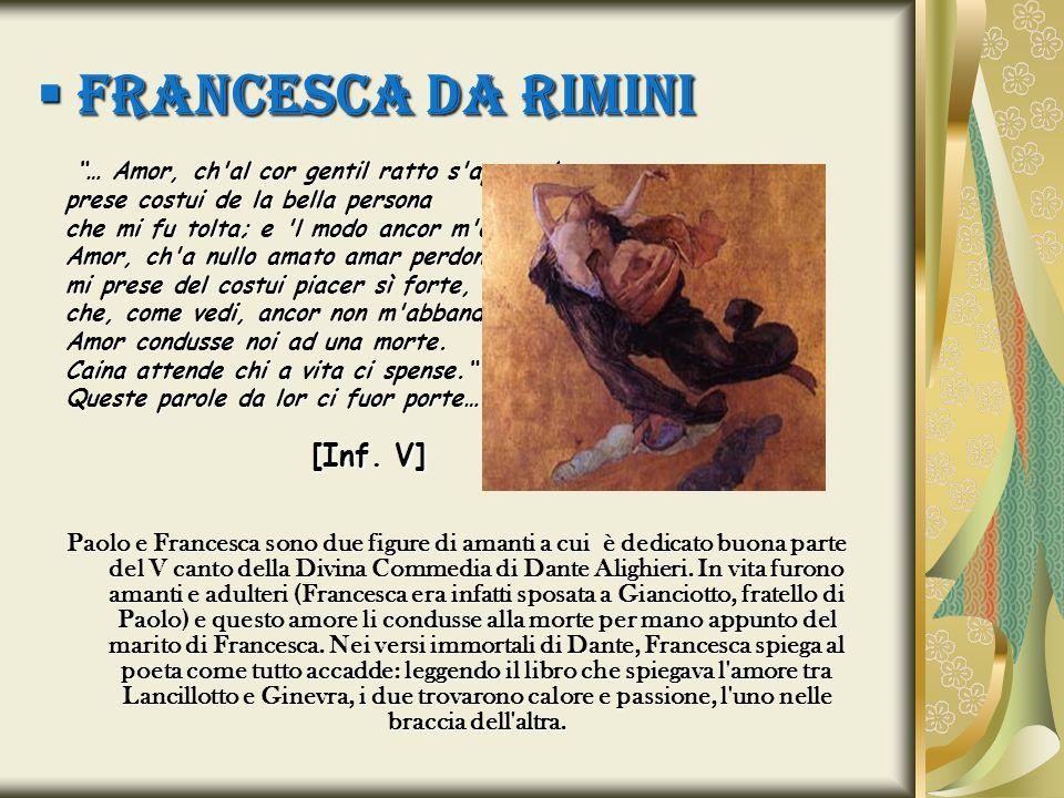 FRANCESCA DA RIMINI [Inf. V]
